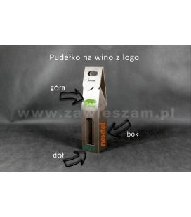 Pudełko do wina z logo, brązowe