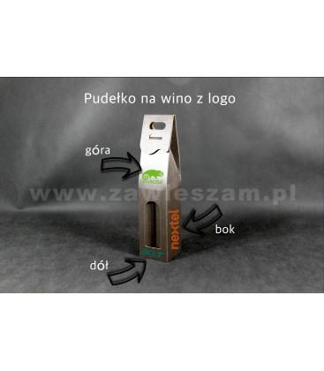 Pudełko na wino z logo, brązowe