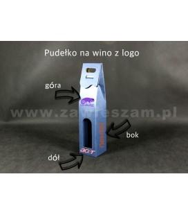 Opakowanie na wino z logo, niebieskie