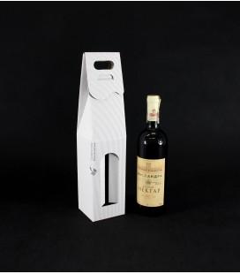 Pudełko kartonowe na wino z okienkiem, białe
