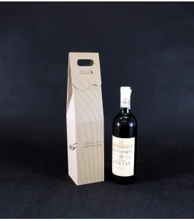 Opakowanie na wino z grawerem, szare