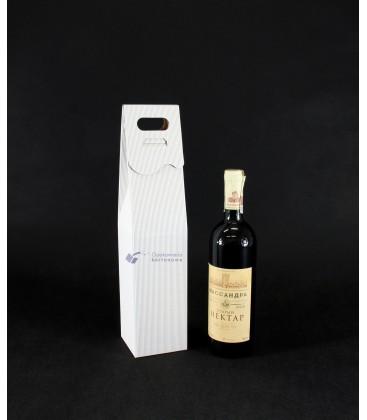 Pudełko na wino z grawerem, białe