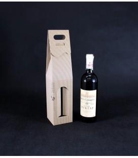 Pudełko kartonowe na wino z okienkiem, szare