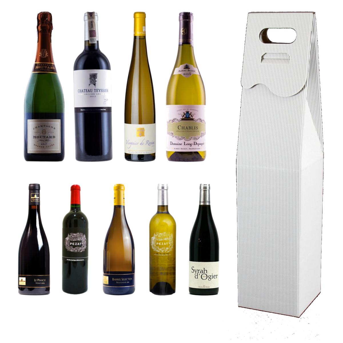 pudełko na wino, pudełko do wina białe
