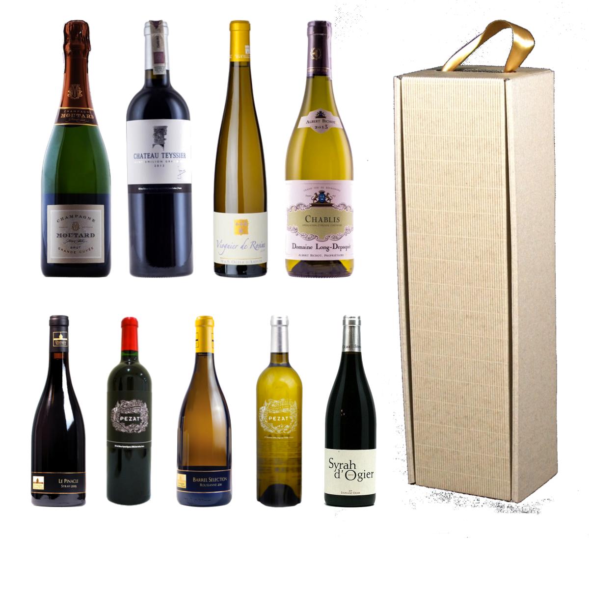 pudełka tekturowe ozdobne na wino