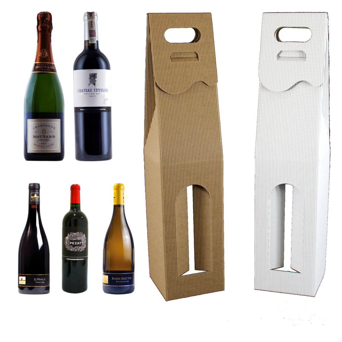 pudełko na wino białe i szare